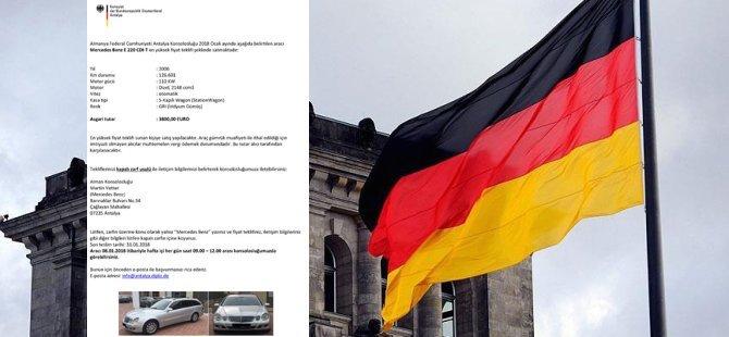 Almanya Başkonsolosluğu'ndansatılık makam aracı