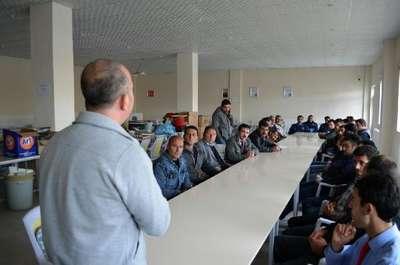 Belediye personeline iş güvenliği semineri verildi