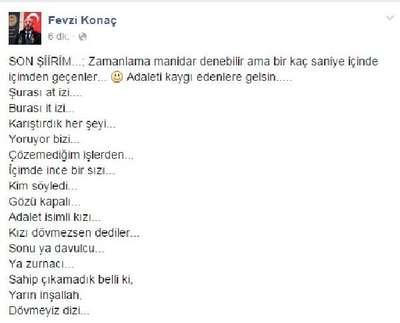 Kayseri Baro Başkanı Konaç'tan adalet şiiri