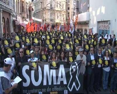 Beyoğlu'nda Soma için yürüyüş...