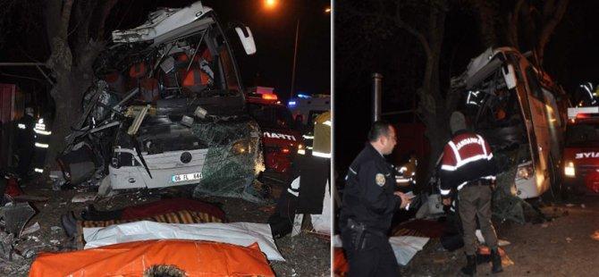 Gezi otobüsü faciası: 11 ölü, 46 yaralı