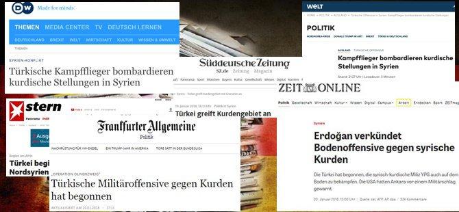 Alman basını: Türkiye, Kürtleri bombalıyor