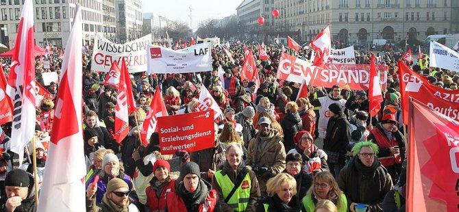 Almanya'da 35 bin kişi iş bıraktı
