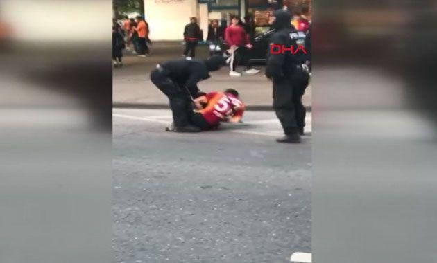 Galatasaray taraftarlarına köpekli saldırı