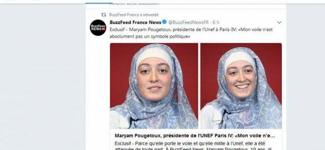Fransa'da öğrencinin başörtüsü dert oldu