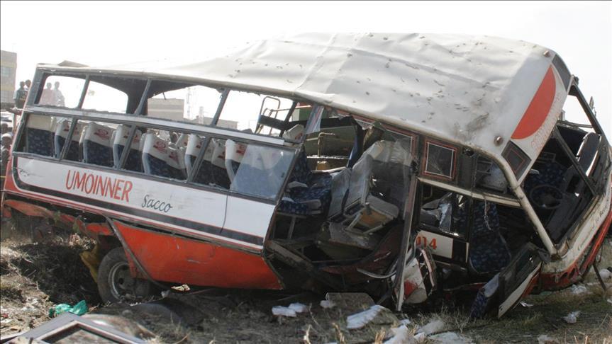 Yolcu otobüsü devrildi: 50 ölü
