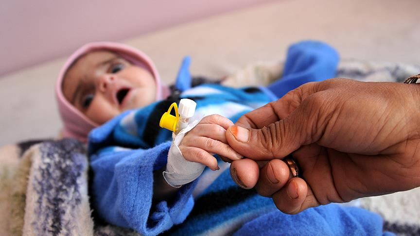 WHO: Yemen'de 7,4 milyon çocuk aç