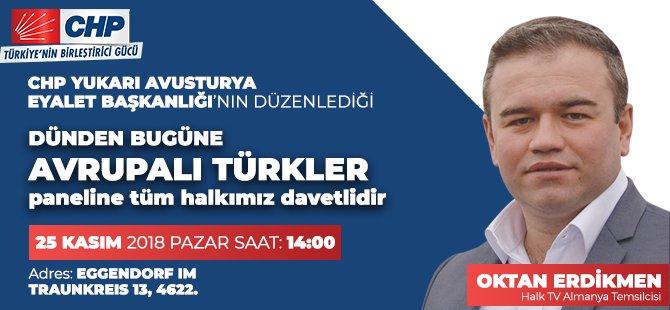 CHP'den Avrupalı Türkler paneli