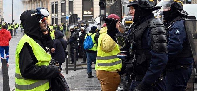Polis sendikasından sarı yeleklilere destek