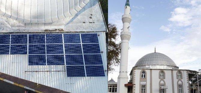 Gurbetçiden caminin elektrik sorununa çözüm