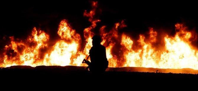 Berlin'de korkutan yangın: 1 itfaiyeci yaralandı