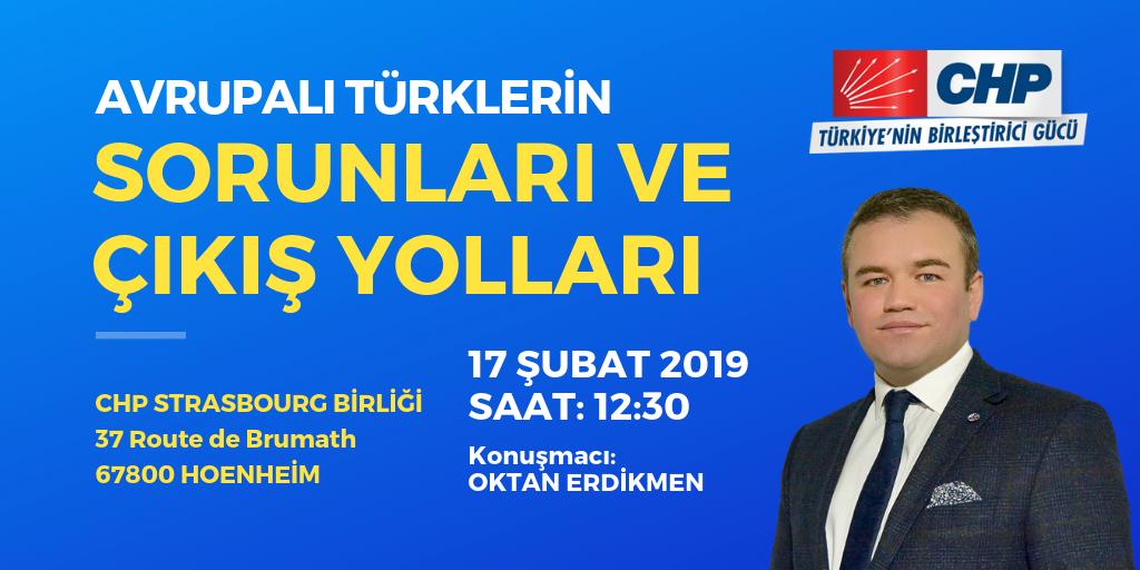 CHP Strazburg'dan Avrupalı Türkler paneli
