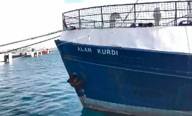 Gemiye Alan Kurdi'nin adı verildi