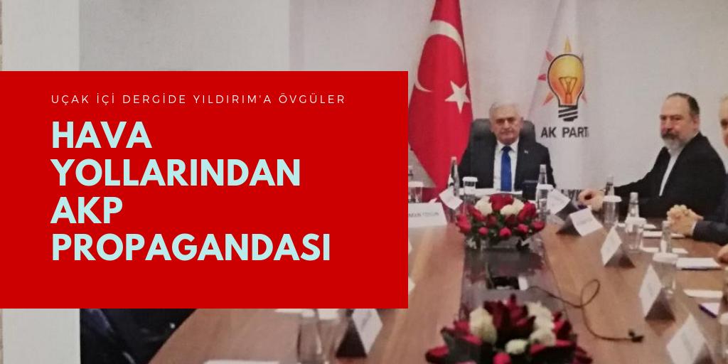 Hava yolu şirketlerinden AKP propagandası