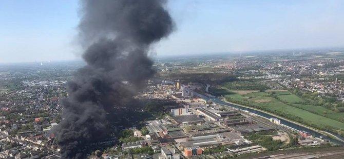 Almanya'da Türk işçilerin çalıştığı fabrikada yangın
