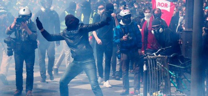 Paris'te olaylı 1 Mayıs: 25 yaralı, 222 gözaltı