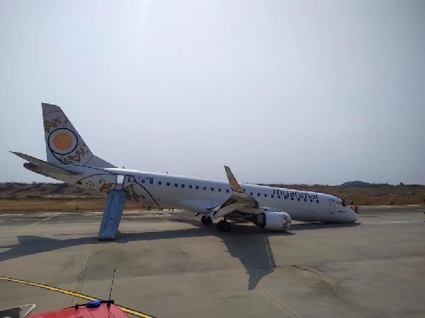Pilot, yolcu uçağını burnu üstüne indirdi