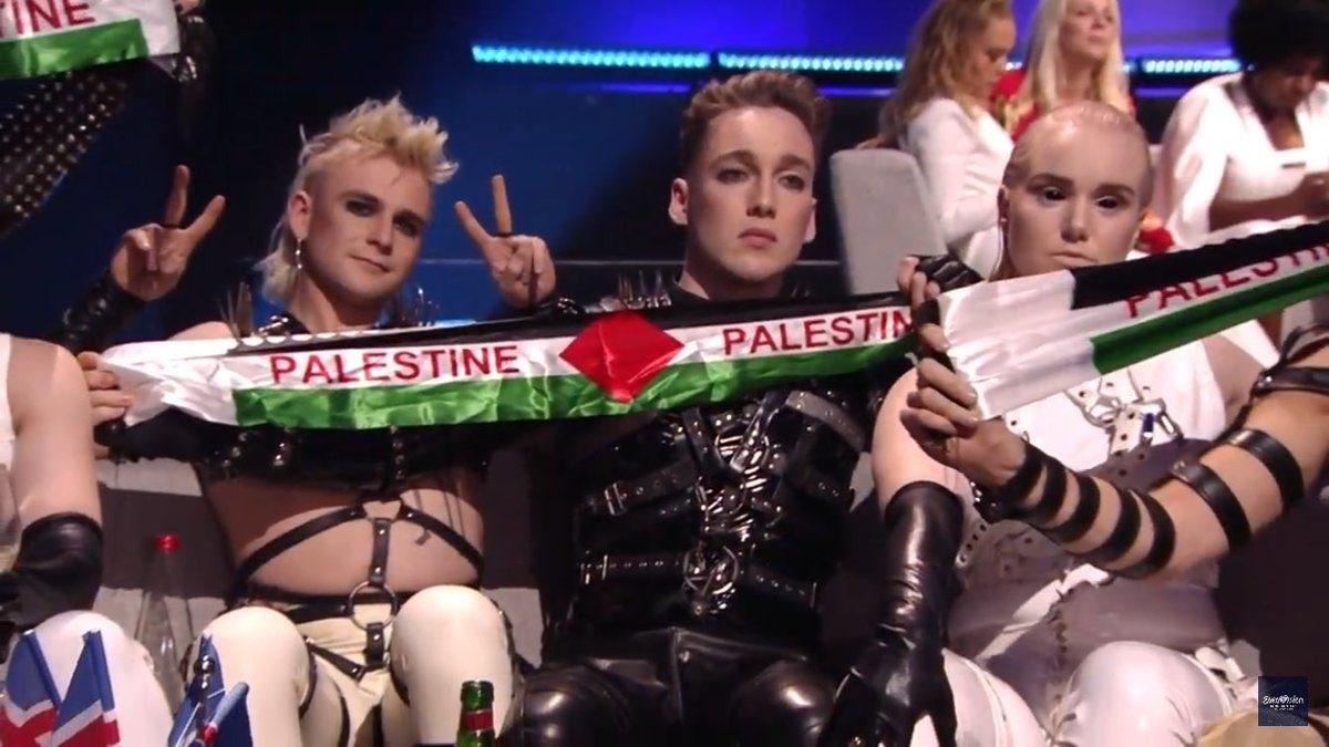 Eurovision'da Filistin bayrağı damgası