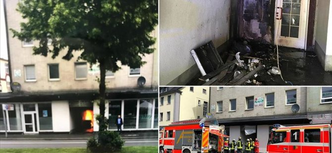 Almanya'da camiye molotof attılar