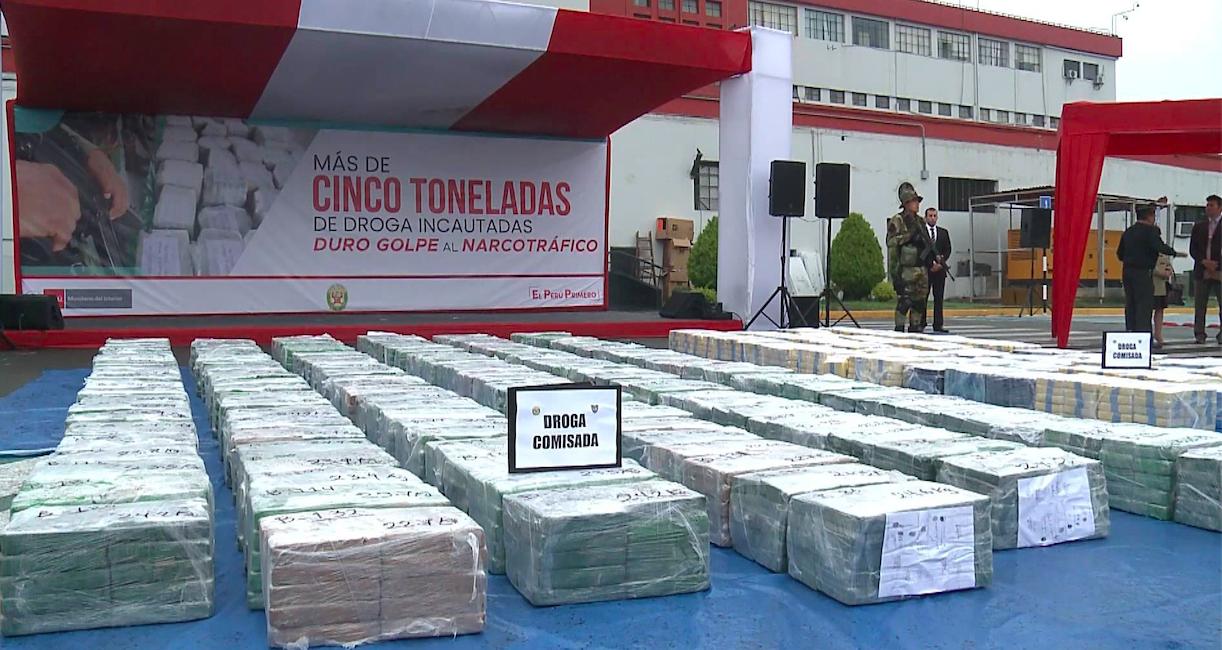 5.5 ton kokain ele geçirildi