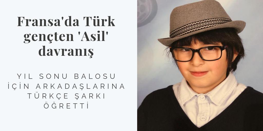 Fransa'da Türk gençten 'Asil' davranış