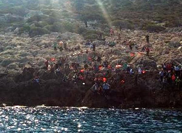 Kaçaklar ıssız adadan 3 gün sonra kurtarıldı