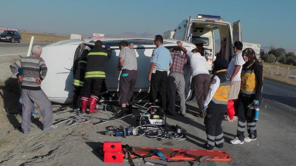 Bayram ziyareti yolunda kaza: 4 yaralı