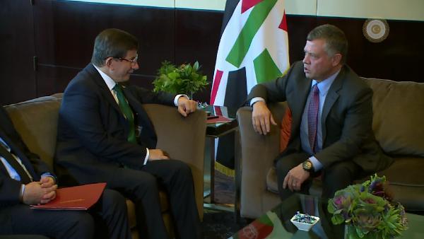 Başbakan Davutoğlu Ürdün Kralı II. Abdullah ile görüştü