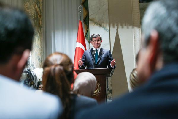 Davutoğlu Türkiye'ye dönük içeride bir terör var ama dışarıda bir başka terör var, algı terörü var