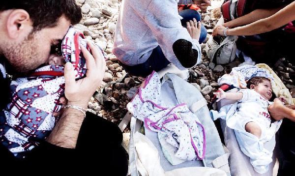 Suriyeli kaçaklar Midilli'ye ulaştı