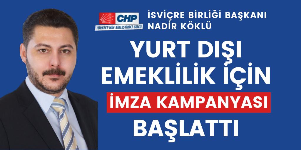 CHP'den emeklilik hakkı için imza kampanyası