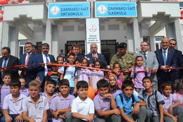 Kahramanmaraş'ta 28 derslikli okul, törenle açıldı