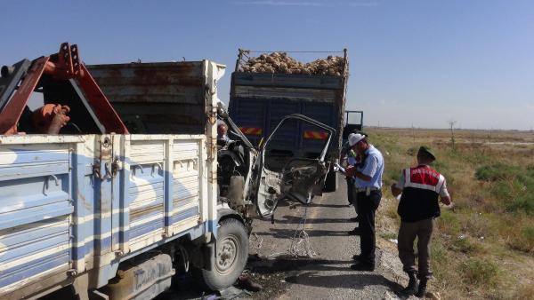 Aksaray'da kaza: 1 ölü 1 yaralı