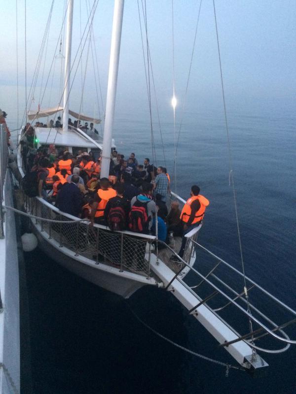 Kaçakların yelkenli taktiği de tutmadı