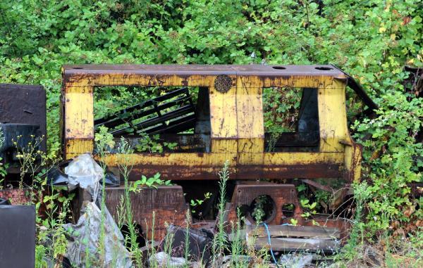 Hurda lokomotifleri tamir ettiler