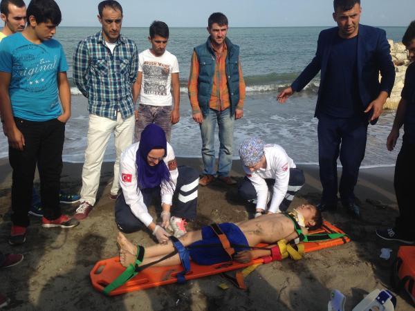 11 yaşındaki çocuk boğulma tehlikesi geçirdi