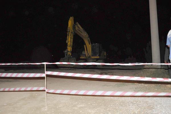 İncirliova'da, DSİ'nin taşeron firmasının şantiyesi mühürlendi