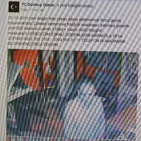 Fotoğrafçı dükkanındaki hırsızlık güvenlik kamerasında