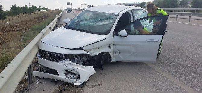 Gurbetçi sürücü ağır yaralandı