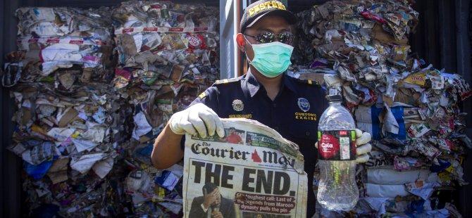 42 konteyner çöpü geri gönderiyor