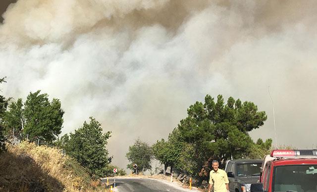 İzmir'deki yangın büyüyor