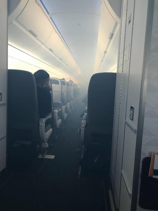 Yolcu uçağı acil iniş yaptı: 7 yaralı