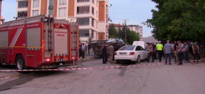 Gurbetçi, tüp kamyonuyla çarpıştı: 2 yaralı