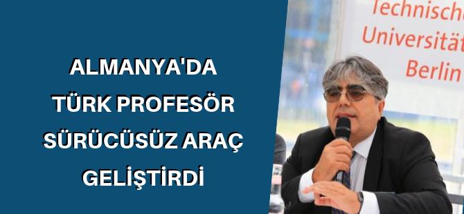Türk profesörden sürücüsüz araç