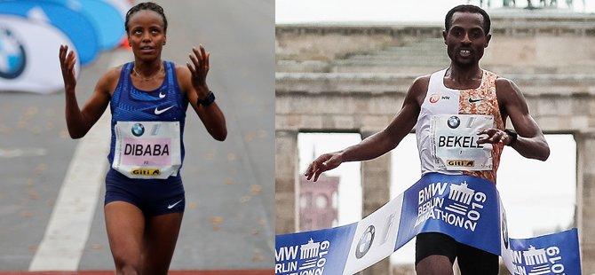 Berlin Maratonu'nda ipi Etiyopyalılar göğüsledi