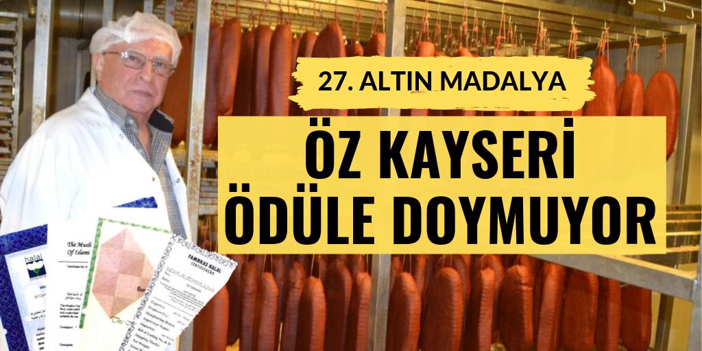 Öz Kayseri'ye altın onur