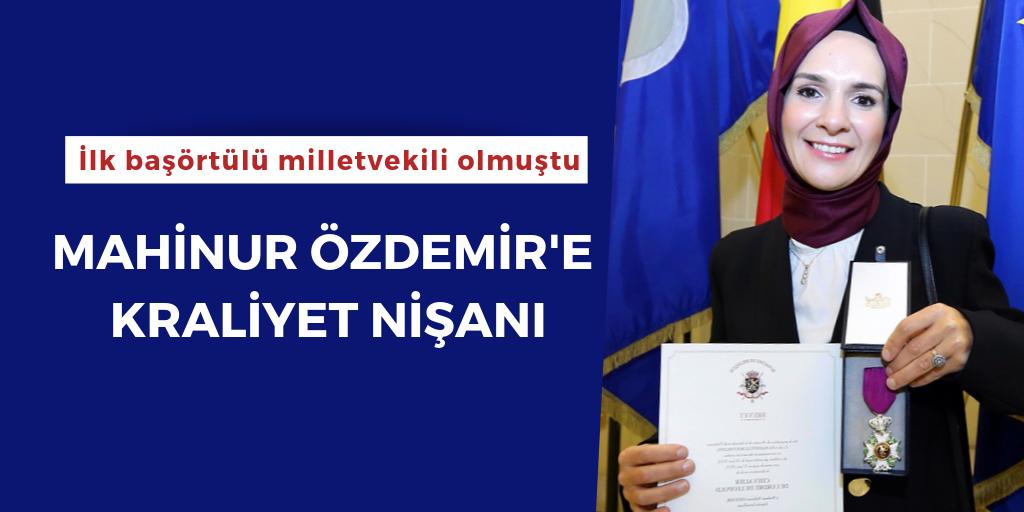 Mahinur Özdemir'eBelçika'dan Kraliyet Nişanı