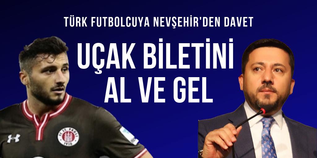 Türk futbolcuya Nevşehir'den davet