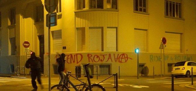 Lyon Başkonsolosluğuna boyalı saldırı