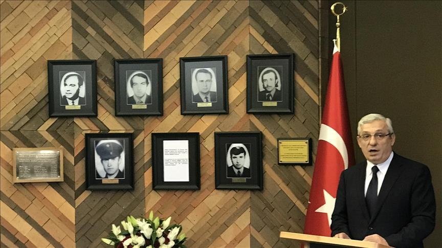 Şehit Büyükelçi İsmail Erez Paris'te anıldı